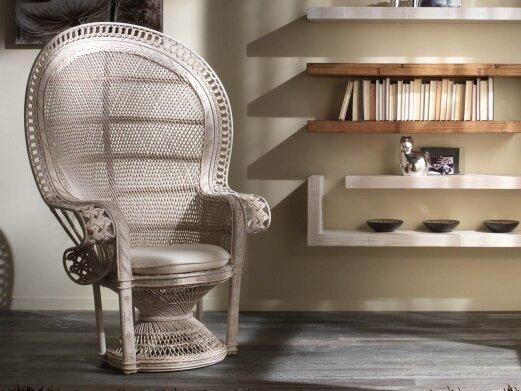 Fotel wiklinowy Emanuel
